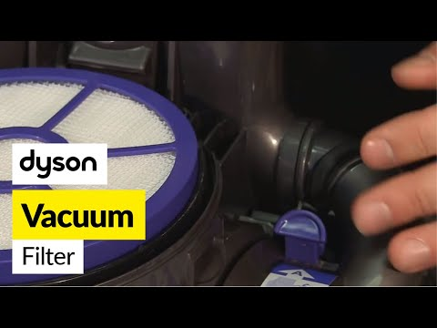 How to change the filters on a vacuum- Dyson DC33