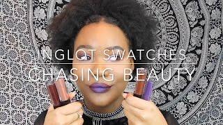 Inglot HD Lip Tint Matte Swatches | Matte Lips | WOC