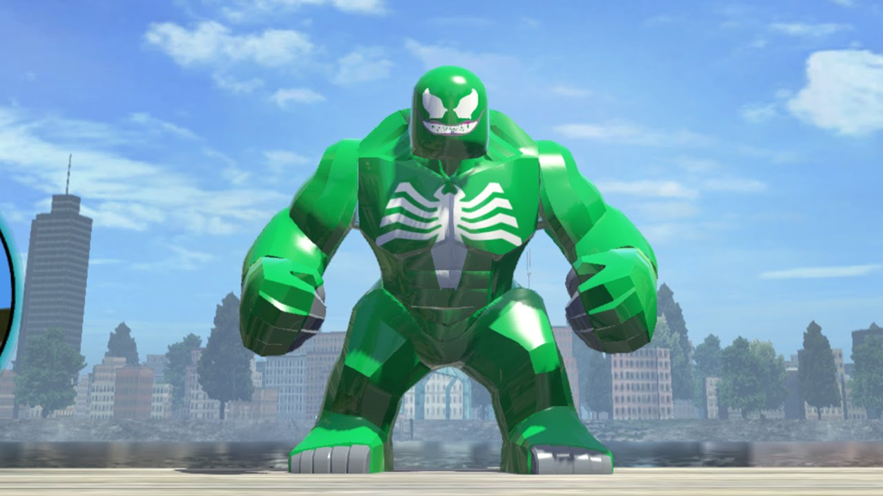 6 Malvorlagen Lego Superheroes: Green Venom Big-Fig Gameplay