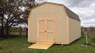 Building a Tall Lofted Storage Barn