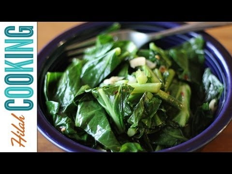 How To Cook Collard Greens | Vegetarian Collard Greens Recipe | Hilah Cooking