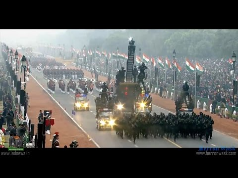 Indian Army - 68th Republic Day Parade Jan 2017 - Hell March 2017
