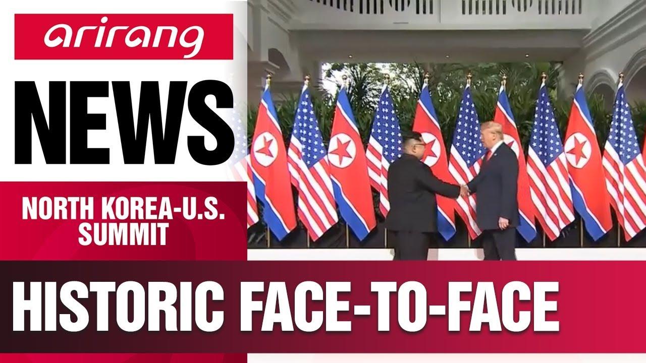 Leaders of n korea us greet each other before heading to talks leaders of n korea us greet each other before heading to talks m4hsunfo