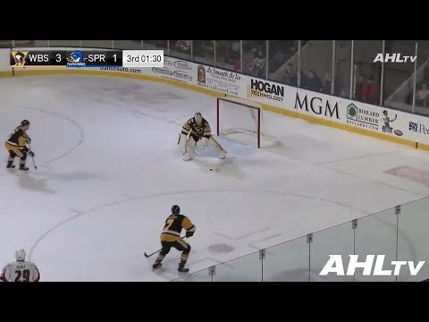 AHL goalie Tristan Jarry becomes the first goaltender in Wilkes-Barre/Scranton history to score