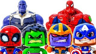 Thanos Come And Destroy Avengers~ Spider Hulk Appeared~ Go Go Go~ Defeat Thanos #Toymarvel