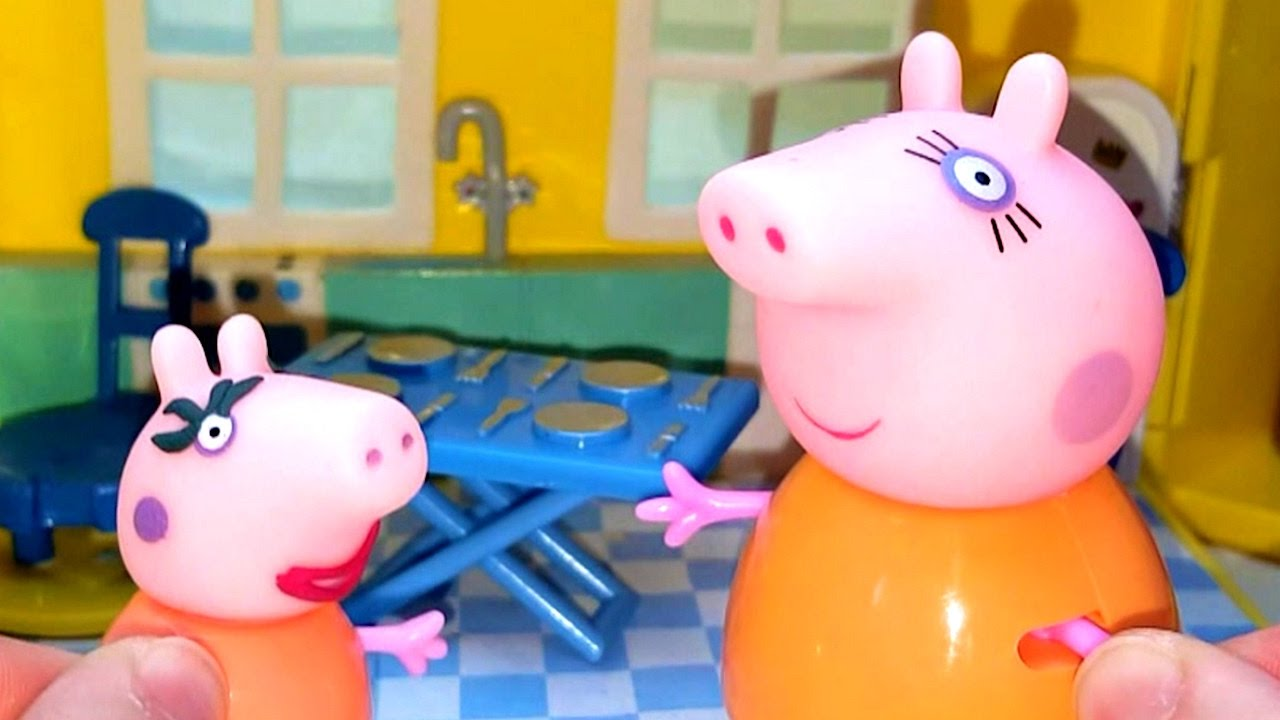 Свинка Пеппа как Мама Свинка. Видео с игрушками. Открываем ...