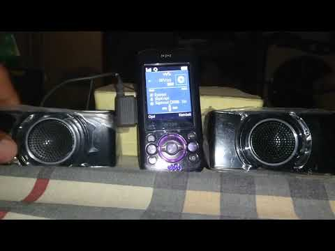 Jadoel: Sony Ericsson W395: Sound Check with Speaker Ms450 mod jack 3.5mm