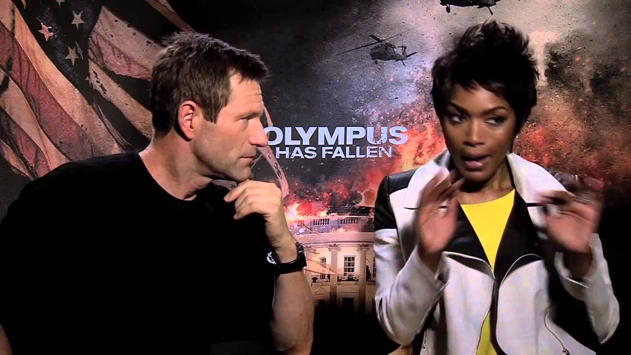 Aaron Eckhart & Angela Bassett Interview Olympus Has ...