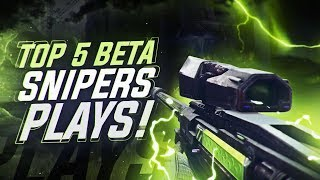 Top 5 Best Destiny 2 Beta Sniper Plays! Insane Triples & Trickshots!