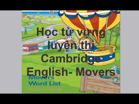 [Behoctienganhonline.com] - Từ vựng luyện thi Cambridge English Movers - Movers Word List
