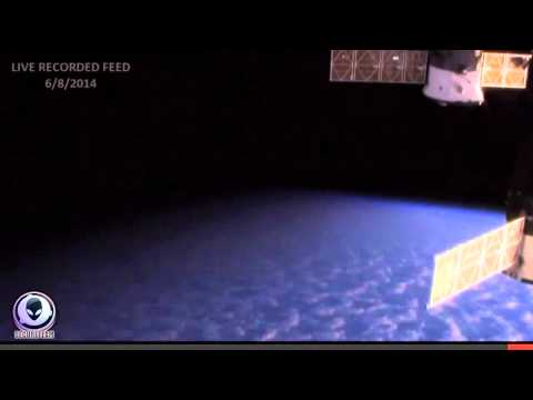6 8 2014 NASA CUTS LIVE SPACE FEED! HD UFO APPEARS AT ISS