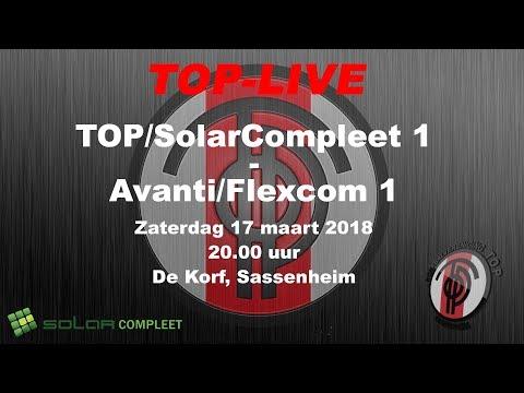 TOP/SolarCompleet 1 tegen Avanti/Flexcom 1, zaterdag 17 maart 2018