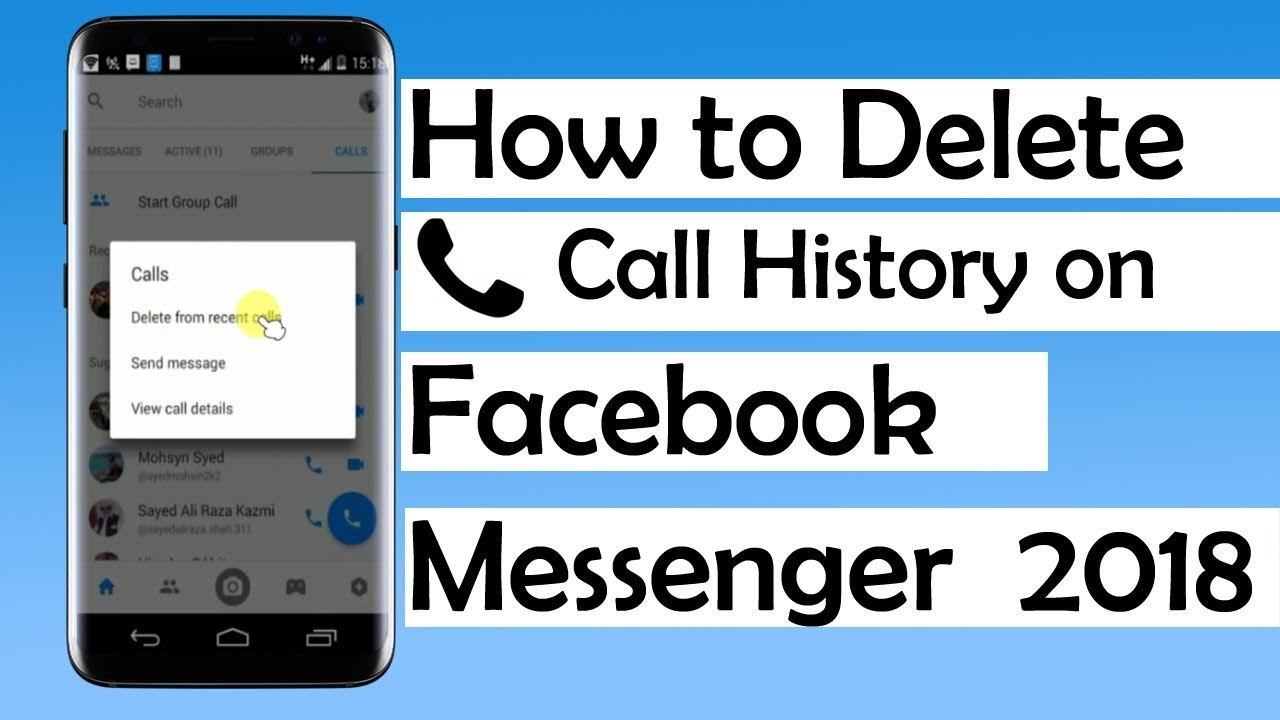 How to delete call history on facebook messenger 2018 youtube ccuart Choice Image