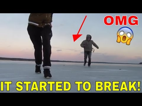 WALKING ON THE FROZEN OCEAN! (THE ICE BROKE!)