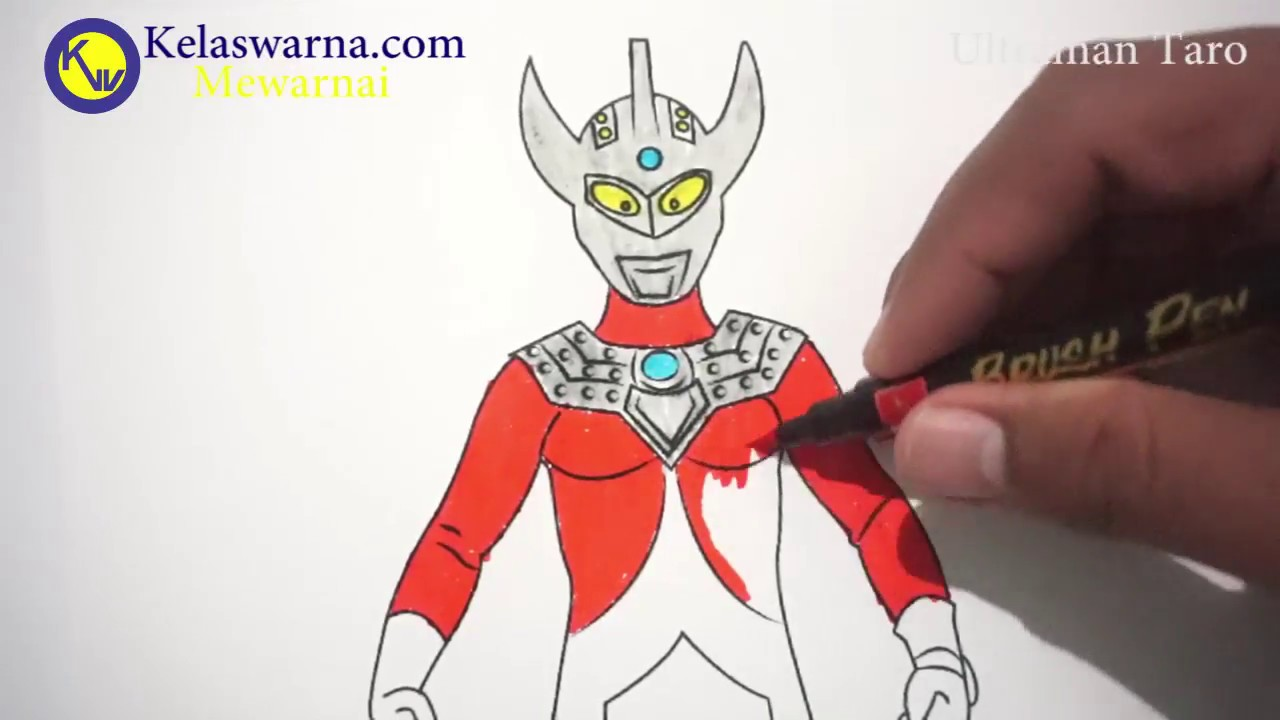Mewarnai Ultraman Taro Coloring Ultraman Taro Youtube
