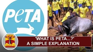 What is 'PETA'...? - A Simple Explanation | Thanthi TV