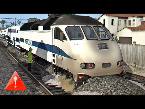Derailment of a metrolink train