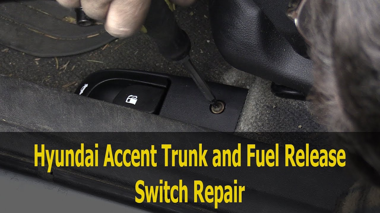 small resolution of 2006 2011 hyundai accent trunk and fuel door release switch replacement