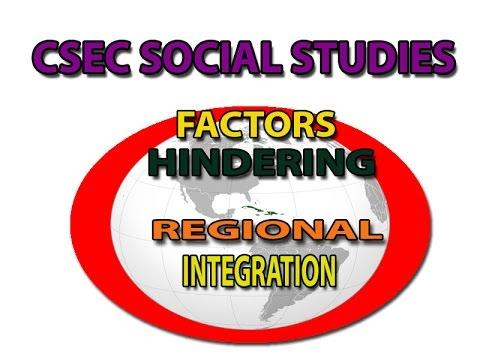 Factors Hindering Regional Integration