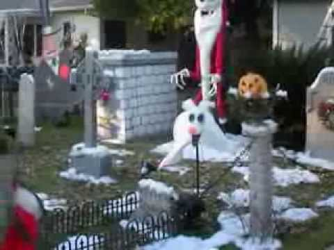 nightmare before christmas halloween yard display 2013