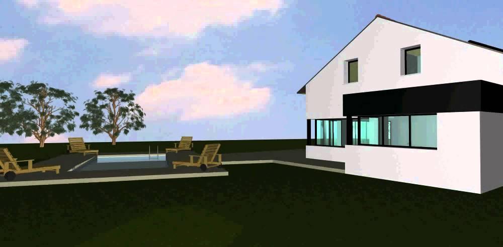 Maison contemporaine avec toiture ardoise - YouTube