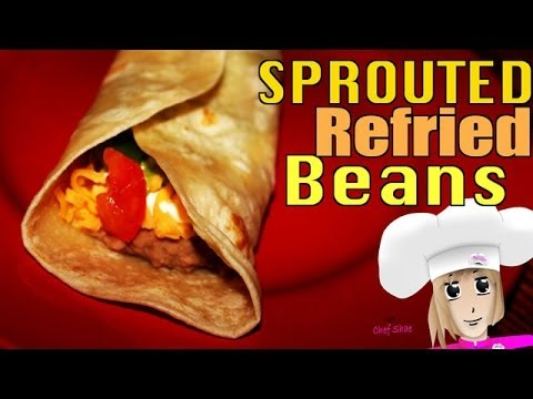 Homemade Sprouted Refried Beans Recipe - Made with Local, Organic Pinto Beans!