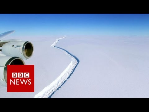 Giant Antarctic iceberg set to break away - BBC News