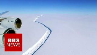 Giant Antarctic iceberg set to break away - BBC News