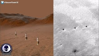 Row Of Alien Towers Found On Mars 12/7/16