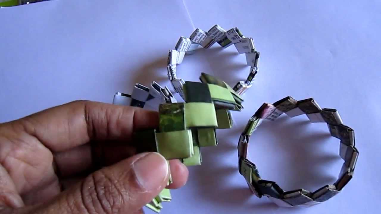 Handmade Candy Paper Bracelet - YouTube