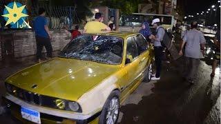 بالفيديو :  جانب من الأضرار الناجمة عن تفجير مقر الأمن الوطني بشبرا الخيمة