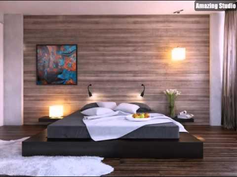 schwarz bett plattform holz clad schlafzimmer wand - youtube - Schlafzimmer Wand