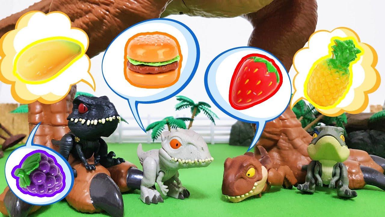 배고픈 아기공룡! 인도랩터, 인도미누스렉스, 티라노사우루스,벨로키랍토르! 과연 누가 가장 많이 먹을까?