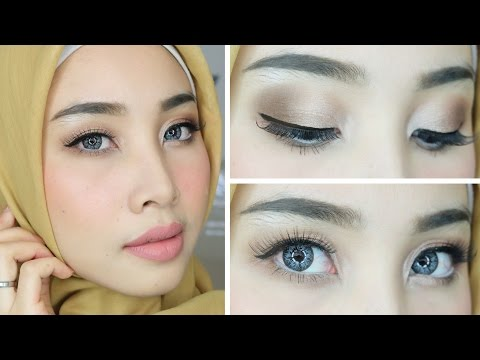 (SOFT & NEUTRAL ) BRONZE & SHIMMER EYES LOOOK | NUANSA GLAM COKLAT EYESHADOW | IRNA DEWI