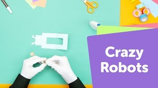 How to Make a Crazy Robot | SuperHands: Easy Crafts, DIY Craft Ideas for Kids Paper Toys