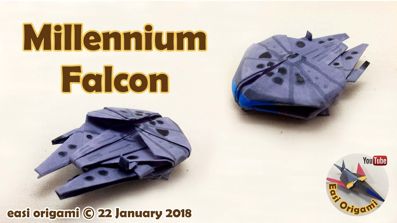 How to make a Papercraft, Origami Millennium Falcon ... - photo#12