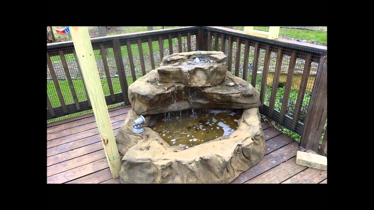 Patio Pond Waterfalls Tropical Hummingbird Water Garden ...