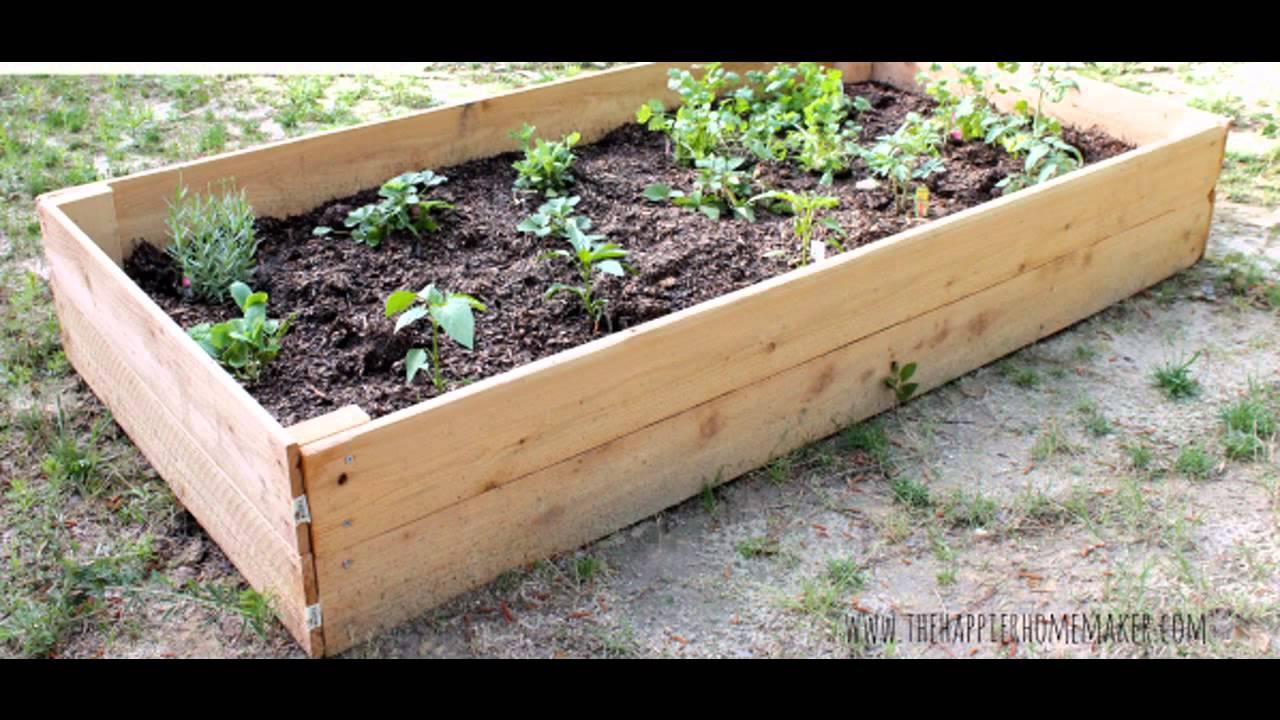 Garden Ideas diy raised garden beds - YouTube on Raised Patio Designs  id=81914