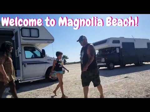 Arriving at Magnolia Beach TX  With the Tribe...LOVE this place