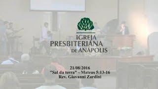 sal da terra - Mt.5.13-16 - Rev. Giovanni Zardini