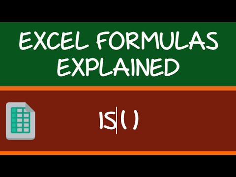 IS Formula Family in Excel