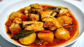 Домашние видео-рецепты - картофельный соус с курицей в мультиварке