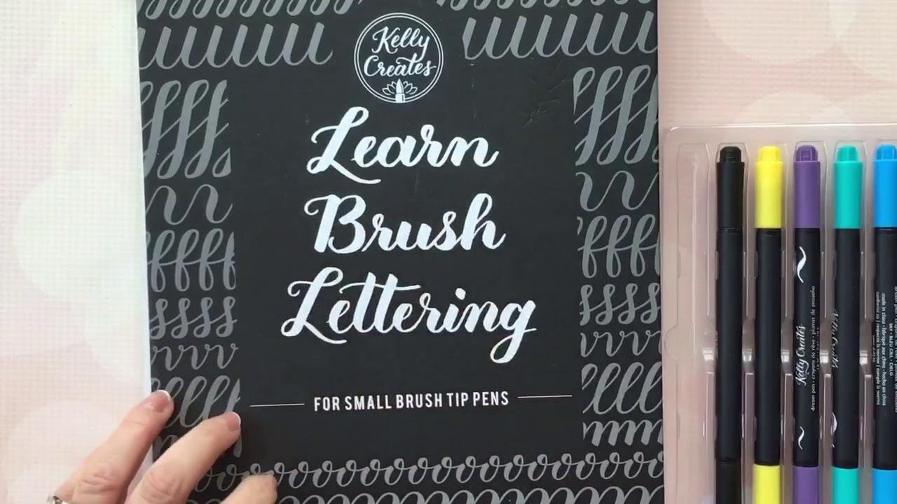 Kelly creates learn brush lettering workbooks youtube