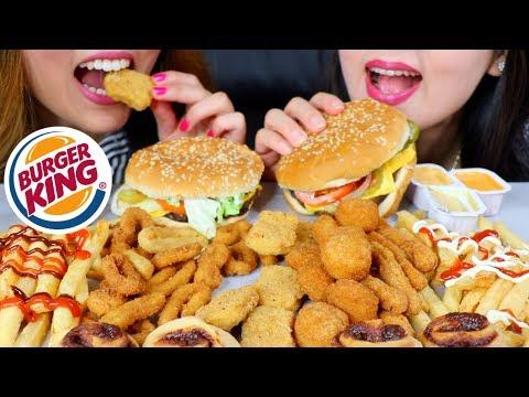 ASMR BURGER KING WHOPPER, CHICKEN FRIES, ONION RINGS, CHEESY TOTS 버거킹 햄버거 리얼사운드 먹방 | Kim&Liz ASMR