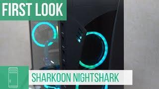 Sharkoon Nightshark ATX PC case - First Look #Computex2018