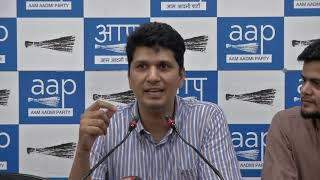 AAP Chief Spokesperson Congratulate PM Modi and BJP For Forming Full Majority Govt (Englis ...