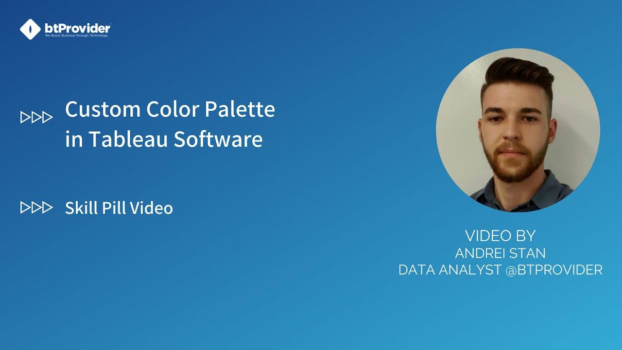 How To Add Custom Color Palette In Tableau Software En Youtube