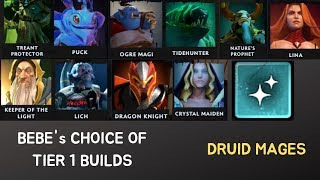 Bebes choice of Tier 1 Builds Druid Mages