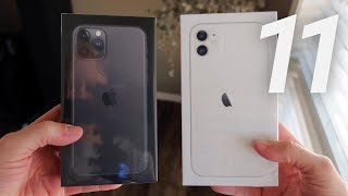 iPhone 11 & 11 Pro Dual Unboxing & Early Review