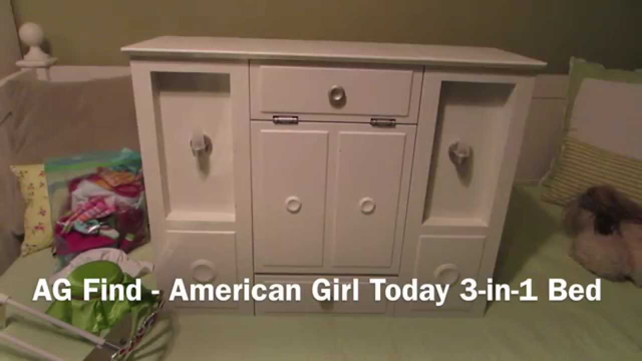 AG Purchase   American Girl of Today 3 in 1 Bed   YouTube